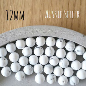 10 silicone beads MARBLE 12mm round BPA free baby teeth safe nursing chew