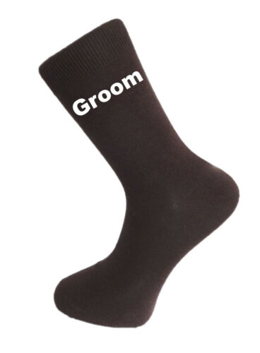 Best Man Groom Brown Luxury Cotton Rich Wedding Socks Usher