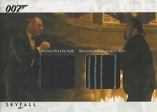 """James Bond Autographs & Relics- SCDC3 """"Bond/ Bodyguard"""" Dual Relic Card #154/200"""