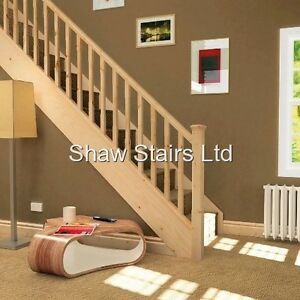 Image Is Loading Staircase  Refurbishment Pack Pine Handrails Baserail Amp 41mm