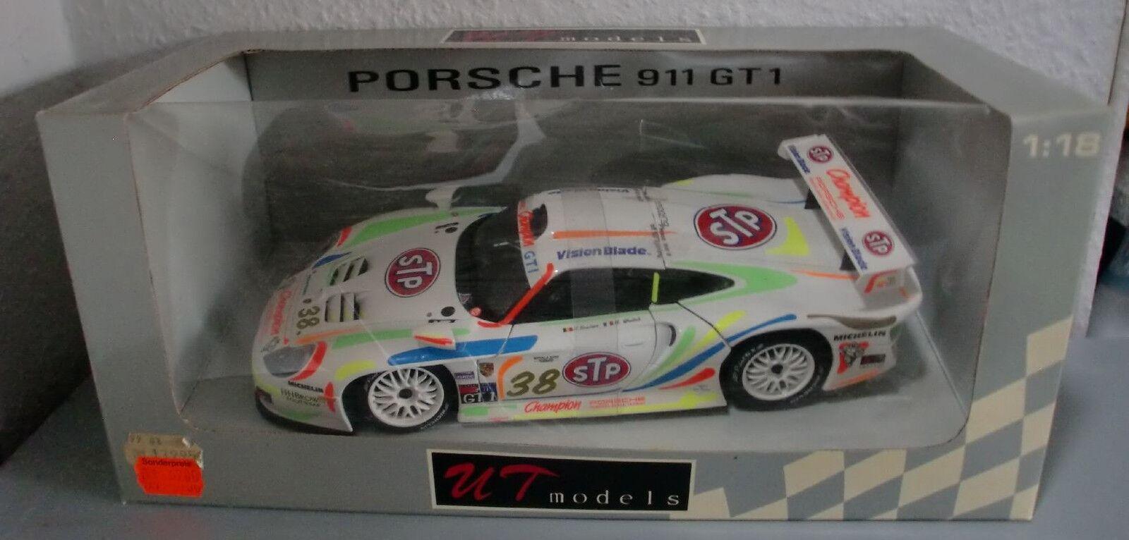 venta de ofertas PORSCHE 911 GT1, STP, Nr. 38, UT models, Neuwertig, Neuwertig, Neuwertig, OVP, 1 18  venta al por mayor barato