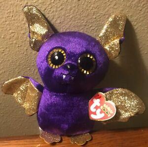 "Ty Beanie Boos Count the Purple Halloween Bat 6/"""
