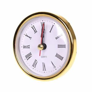 1x Quartz Clock Movement Insert Roman Numeral White Face