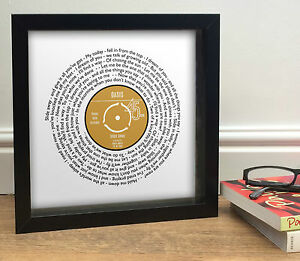 Personalised FAVOURITE SONG designed as Vinyl Record | Framed Print or Poster