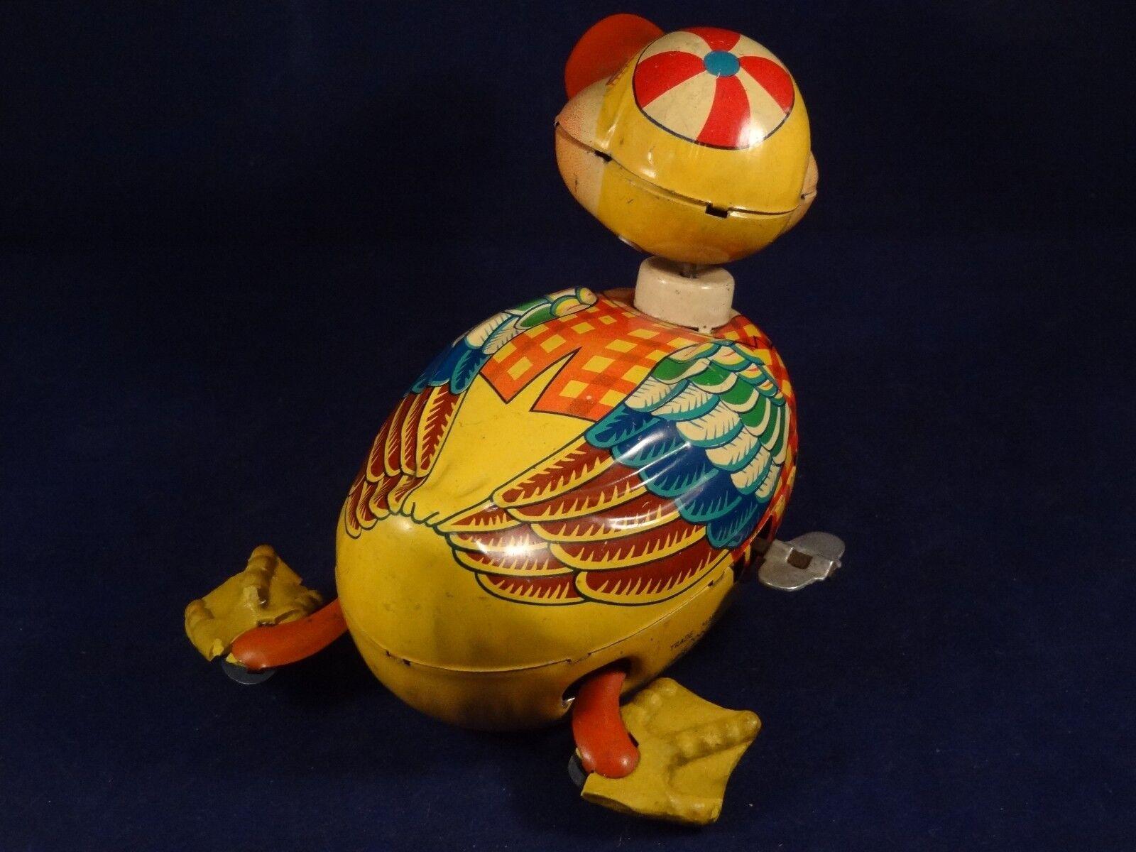 Ancien jouet mécanique tôle lithographié canard 1950 ALPS RF JAPAN 1950 canard style joustra dd0ba9