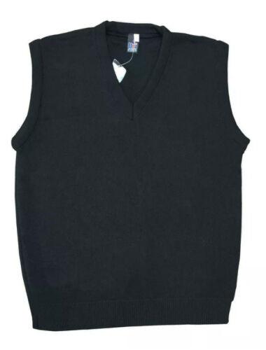 Schoolwear Uniform V Neck Tank Top Kids Knitted Sleeveless Jumper 3YRS-XL