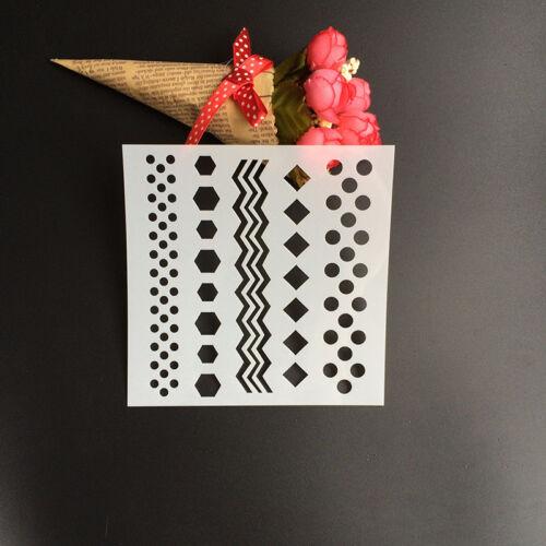 Layering Stencils Scrapbooking Photo Album Decorative Embossing DIY Card Craft