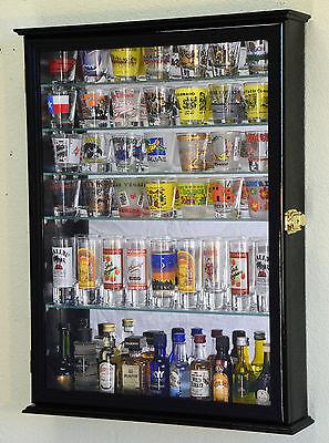 L Shot Glass Shooter Display Case Cabinet Rack Holder