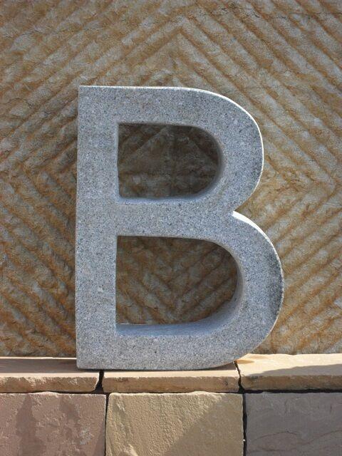 B - Buchstabe aus echtem Granit - - - Für Hotel Gastronomie und zu Hause Hausnummer f0fe4e