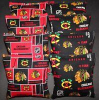 8 Cornhole Bean Bags Made W Chicago Blackhawks Fabric Aca Reg Bags, Top Quality