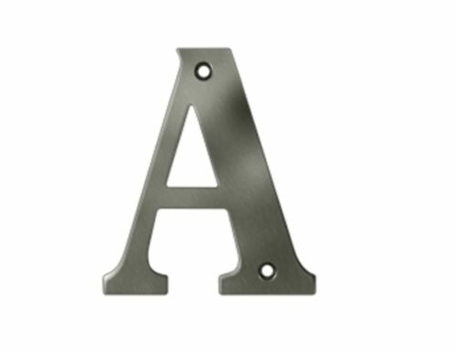 Letter A Solid Brass 4 inch high in 4 Finishes FPL Door Locks /& Hardware
