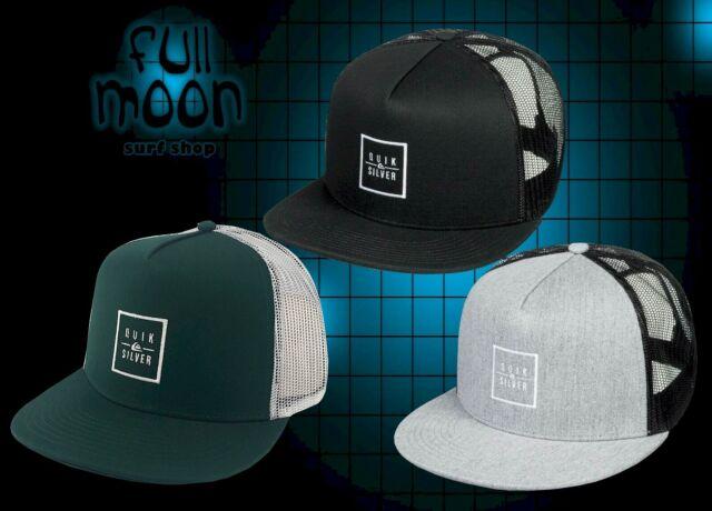 845a625a2 New Quiksilver Clip Charger Mens Trucker Snapback Cap Hat