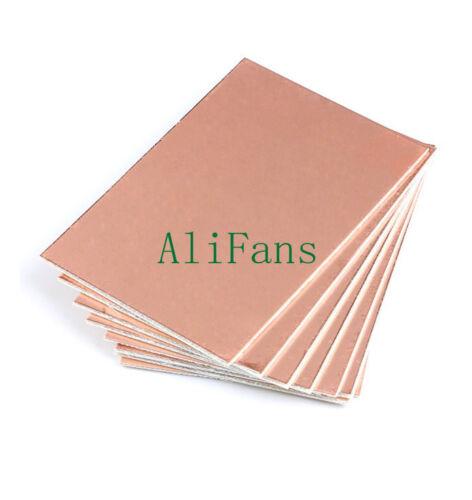 5pcs 10*15cm 10cmx15cm Single PCB Copper Clad Laminate Board FR4 AU