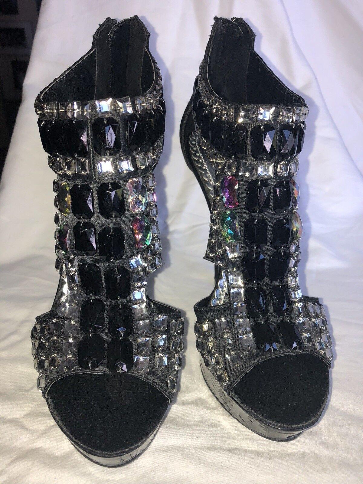 Naughty Monkey Monkey Monkey Black Patent Learher shoes Sz 7 9c203b