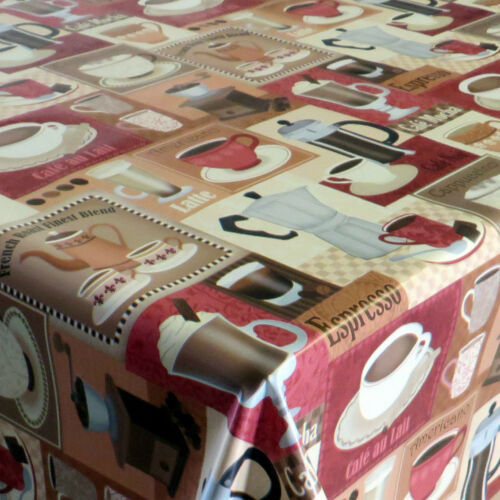 Wachstuch Tischdecke Kaffee Rot Größe wählbar abwaschbar Tischtuch