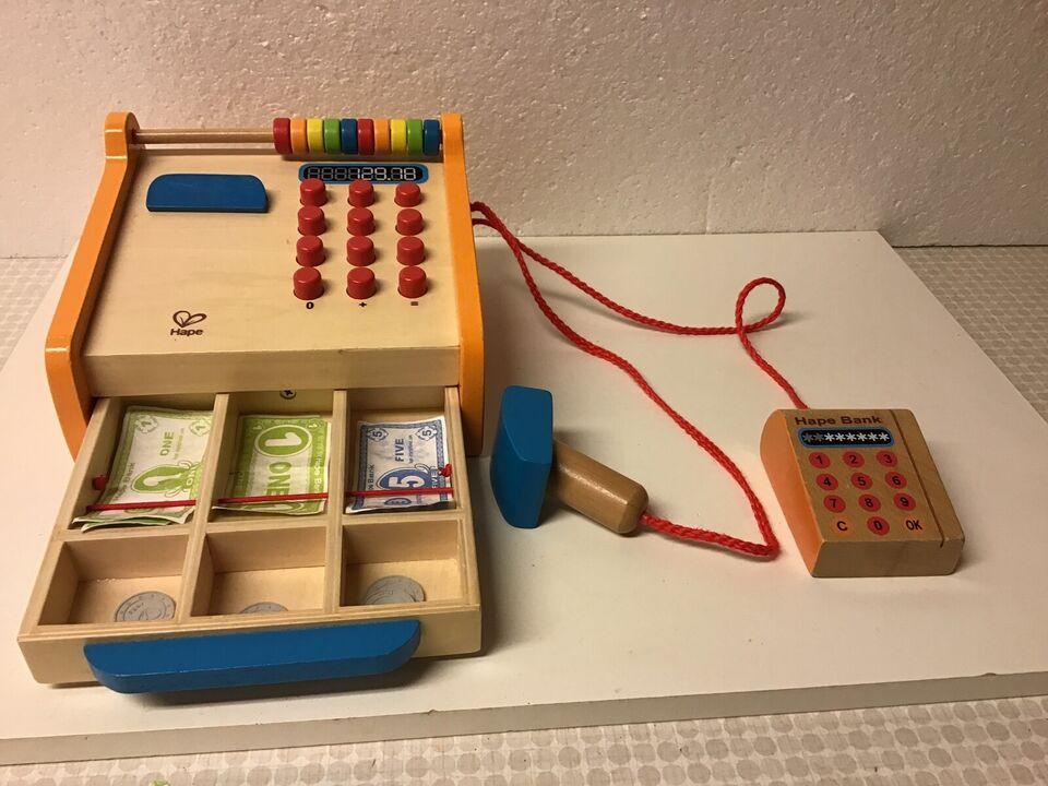 Andet legetøj, Kasseapperat i træ Butikslegetøj