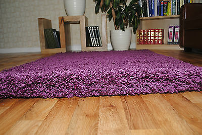 THICK PLAIN SOFT SHAGGY RUG SMALL EXTRA LARGE SIZE NON SHED 5cm PILE MODERN RUGS