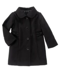 GYMBOREE-VERY-MERRY-BLACK-LONG-DRESSY-COAT-6-12-24-2T-3T-4T-5T-NWT