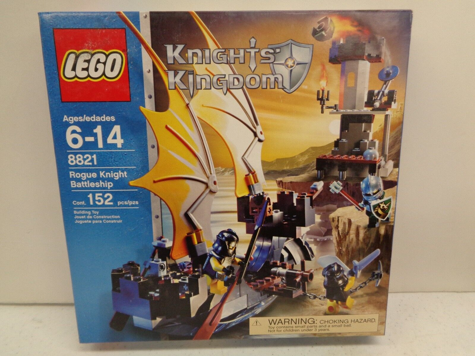 Lego Knight's Kingdom Rogue Knight Battleship Building Toy 8821 Age 6-14, 152 pc