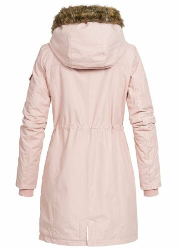 pelliccia sintetica Ladies in di Lifestyle rosa sconto B18109057 Cappotto Jacket 77 50 invernale con cappuccio B47WFqq