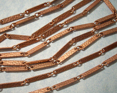 8 Antiqued Copper Plated Steel Hammered 30x20mm Oval Links