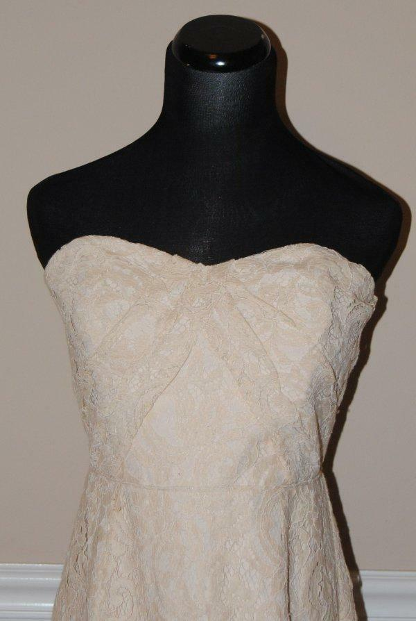 J.Crew Kelsey Strapless Dress in Leavers Lace  b7678 Champagne 6  NEW