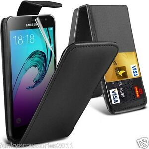 Haut-a-clapet-cuir-etui-de-telePhone-Protection-D-039-ecran-Samsung-Galaxy-J5-2016