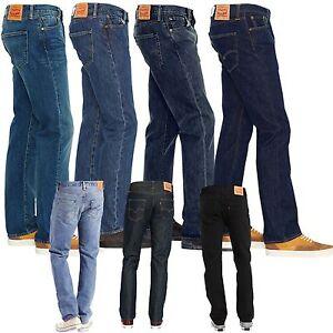 Levi-s-501-Jeans-Herrenjeans-Hosen-blau-schwarz-mit-Farbauswahl