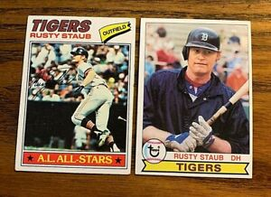 Rust Stuab Topps 1977 #420 and 1979 #440 - Tigers