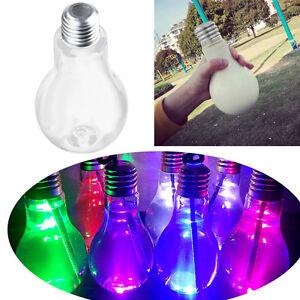 400-500mL-LED-Glowing-Light-Bulb-Water-Bottle-Brief-Cute-Milk-Juice-Bulbs-Cup-AU
