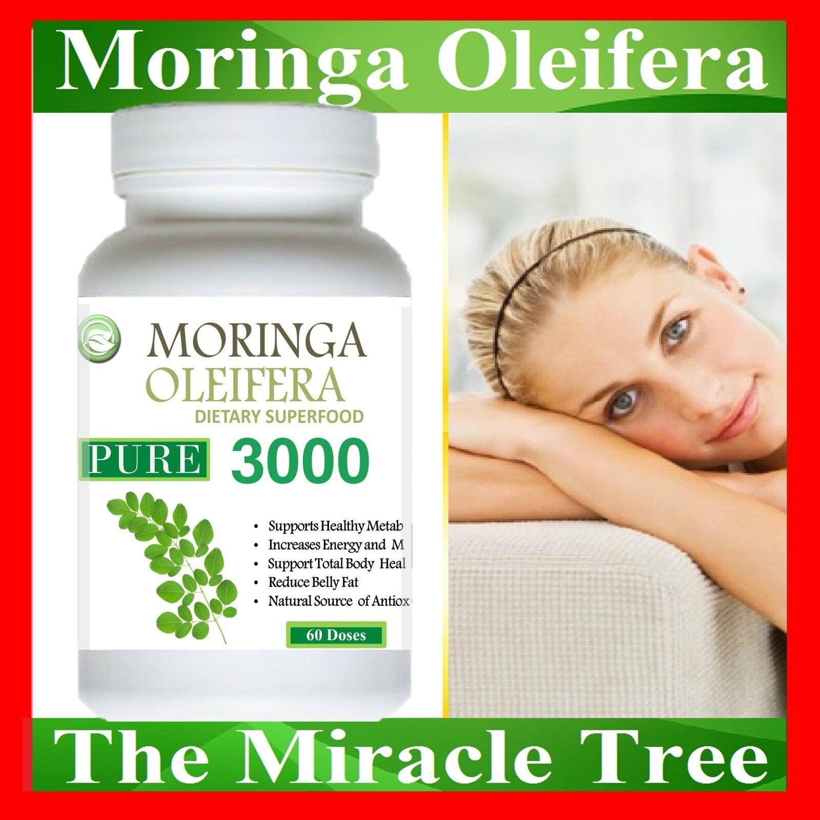 4X BOTTLE OF Moringa Oleifera Vegetarian 240 Doses NATURAL ORGANIC SUPERFOOD