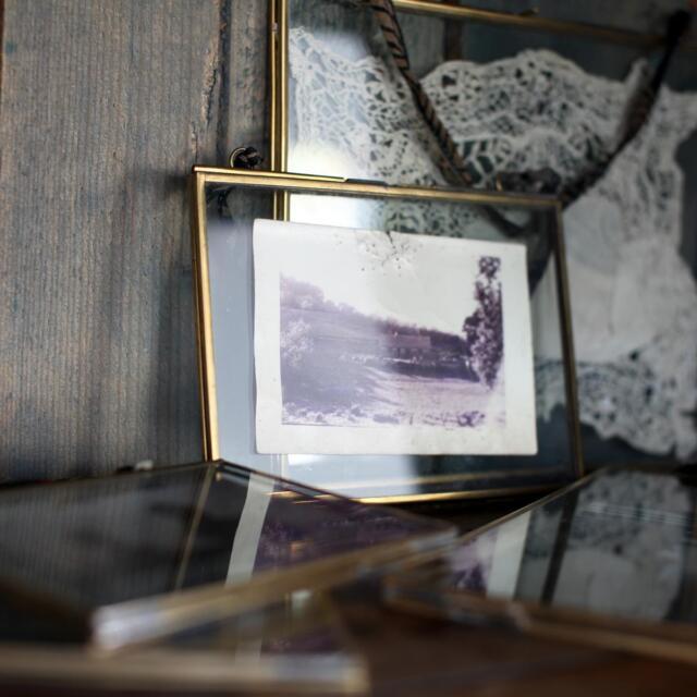 Nkuku Kiko Antique Brass Glass Frame - Portrait 4x6 Inches | eBay