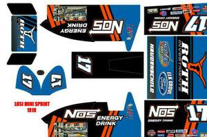 Details about losi mini sprint, slider 1/18 wrap kit decal sticker NOS  SHELDON HAUDENSCHILD