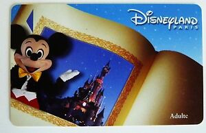 Details Sur Carte De Collection Disneyland Paris Livre Mickey Adulte