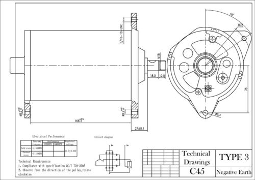 Dynamator Positive Earth Alternator Dynamo Conversion LUCAS C45 ASTON DB2 DB4