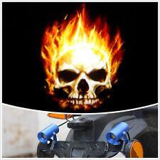 12v Motorcycle Skull Warning Light Alarm Guide Signals Indicators Projector Lamp