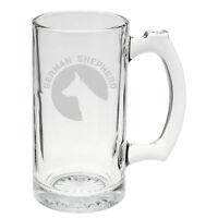 German Shepherd Dog Breed Pride Hand Etched Mug 25 Oz Beer Stein Glass Cup