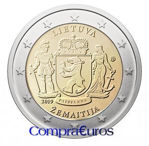 2-Euros-Conmemorativos-LITUANIA-2019-Samogitia-Sin-Circular
