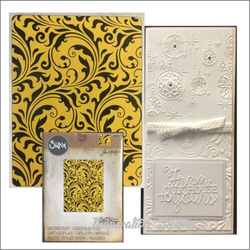 Flourish embossing folder Tim Holtz 661822 Swirls Sizzix embossing folders
