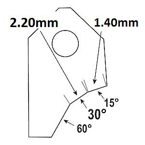 30°-2.20mm.Valve seat cutting carbide tip bit,SERDI NEWEN ROTTLER SUNNEN GOODSON