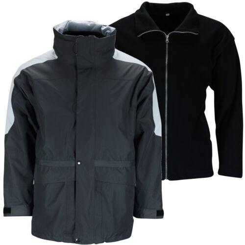 New Mens 3 in 1 Waterproof Jacket Windproof Winter Outdoor Hooded Fleece Coat