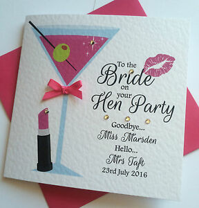 Image Is Loading Personalised Hen Night Weekend Party Card Goodbye Miss