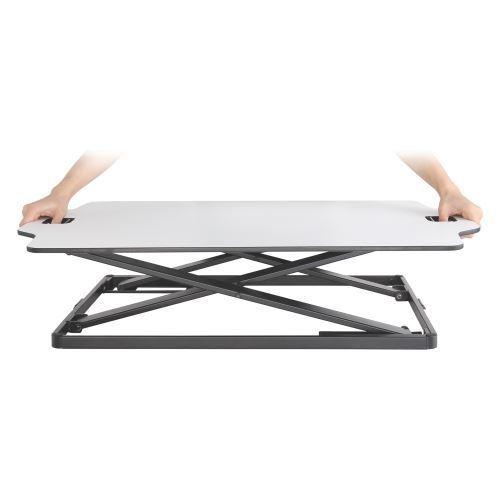 Premium Super-Slim Height Adjustable Standing Desk//Tabletop Stand,White,DWS08-01