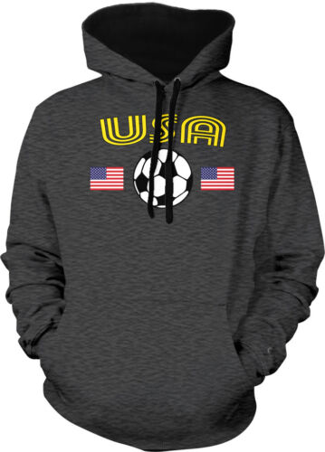 United States National Soccer Team Red White And Blue  2-tone Hoodie Pullover