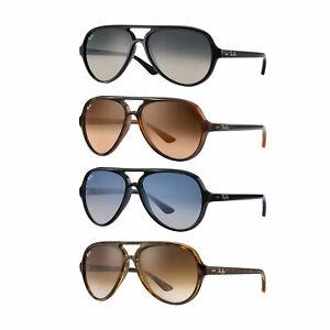 08b224c5eb Image is loading Ray-Ban-RB4125-Cats-5000-Classic-Sunglasses-59mm-
