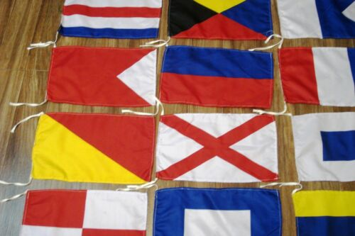 Flag SET Marine Code Set of Total 26 flag Naval Signal Flags Total 28 Flag