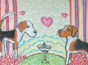English-Foxhound-8-x-10-Art-Print-Signed-by-Artist-Kimberly-Helgeson-Sams-Dogs