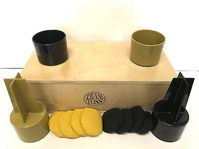 Team Toss Tailgate Tossing Game In Wood Box Black And Gold Backyard Games Sporting Goods