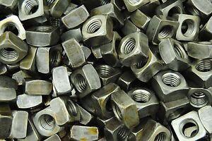 75-Unplated-5-8-11-Square-Nuts-Coarse-Thread-Plain-Steel