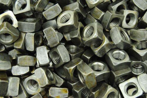 Unplated 5//8-11 Square Nuts Plain Steel BULK 450 Coarse Thread